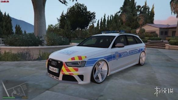 俠盜獵車手5(Grand Theft Auto V)法國員警局奧迪RS4警車MOD(感謝遊俠會員雨文冰璃提供分享)