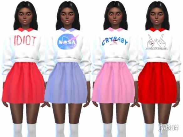 類比市民4(The Sims 4)卡哇伊毛衣套裝MOD