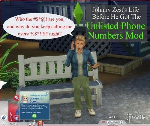 類比市民4(The Sims 4) V20180929未上市的電話號碼MOD