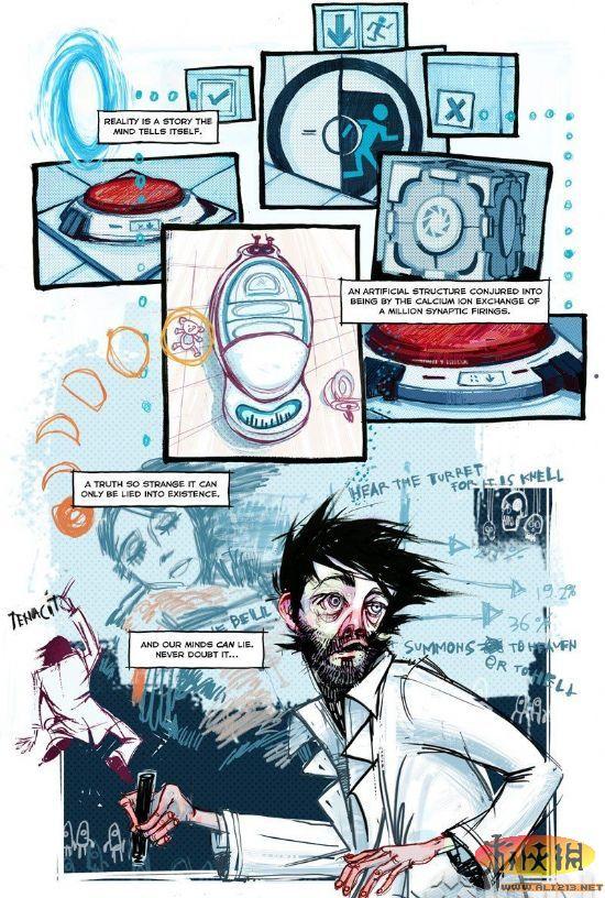 "valve即将推出《传送门2》在线漫画""labrat""_游侠网节约漫画用纸图片"