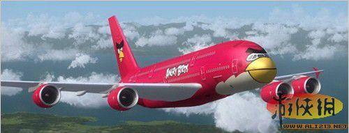 民航飞机全身被涂鸦变成《愤怒的小鸟》!
