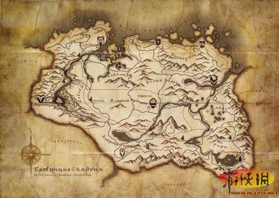 《上古卷轴5:天际》大地图