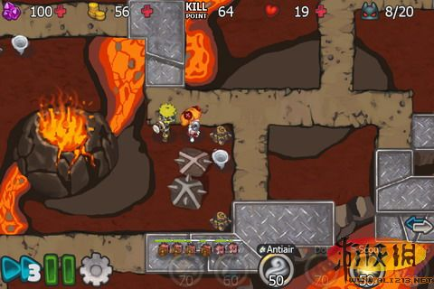 《element defense》画面清新2d塔防游戏