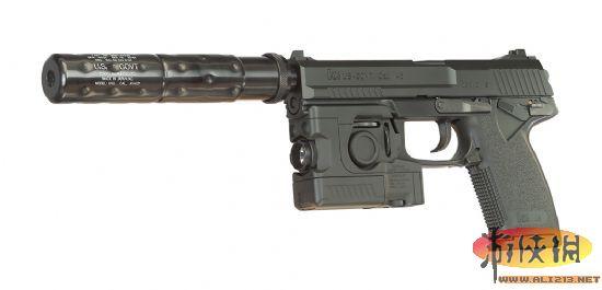 特种作战司令部socom的要求开发的一种发射点45径的带大消音器的usp