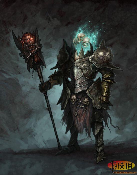 《暗黑破坏神3》骷髅王手绘图