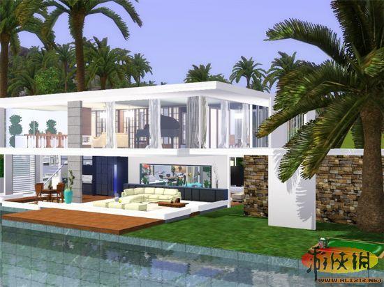 新颖的房子外观设计-洛水 Sims梦工厂 夏季精品房屋合集
