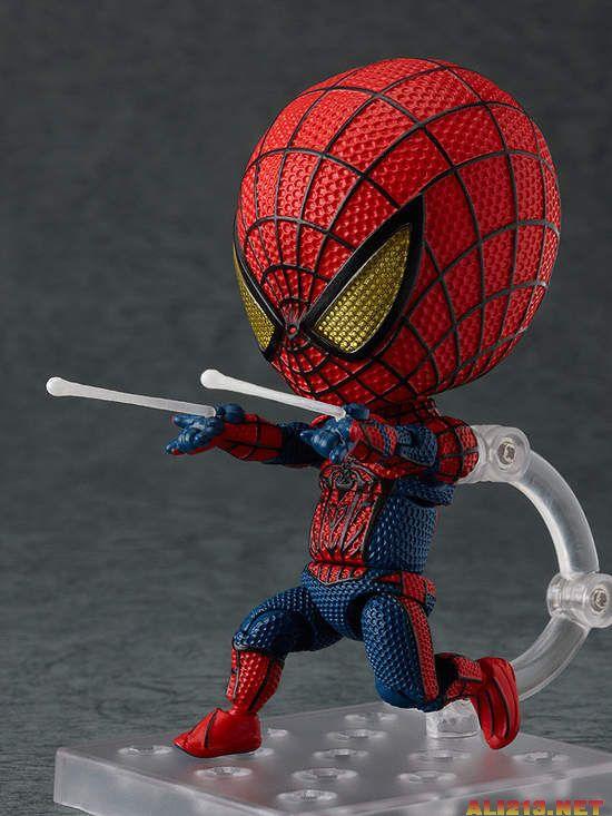 好可爱的q版「蜘蛛侠」和「钢铁侠」大头手办