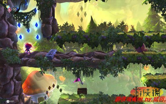 (大肥鸟萌得我都不好意思撞它), 操作方式,玩家可以选择在森林场景下冲撞小动物,或是用踩踏的方式了结掉地狱场景里的恶魔.利用跳跃与翻转长距离跳跃,抵达小旗即可,其余则与同类横版游戏相似.难度上考虑到了清新玩家们的薄弱抗打击力.嗯...