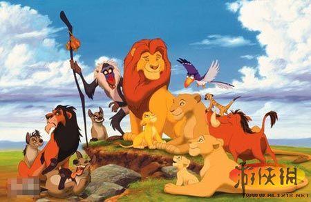 狮子全屏风景桌面壁纸