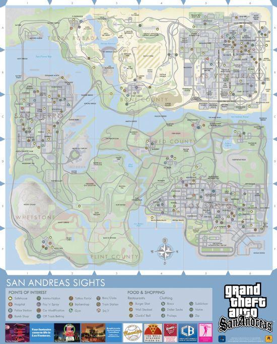 一人一份 GTA 全彩城市地图 飙车不怕迷路图片