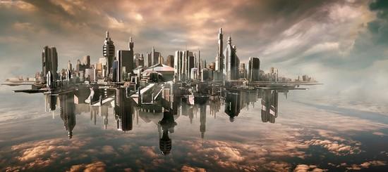 未来蘑菇城 火车城炫爆了 未来城市科幻美图