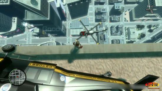 《gta4》超喜感新鲜玩法 直升机弹射基友!