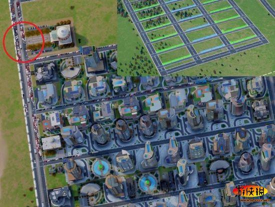 《模拟城市5》道路rci市政 人口需求 占地分析图片