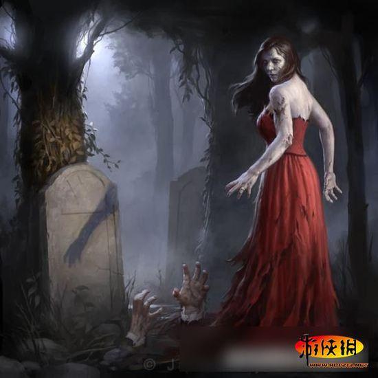 美艳与惊悚完美结合!美女和僵尸组合插画图赏