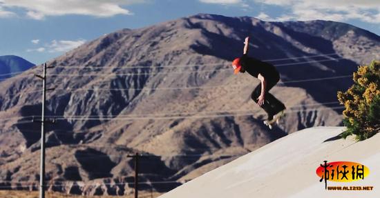 国外运动达人炫酷滑板特技秀