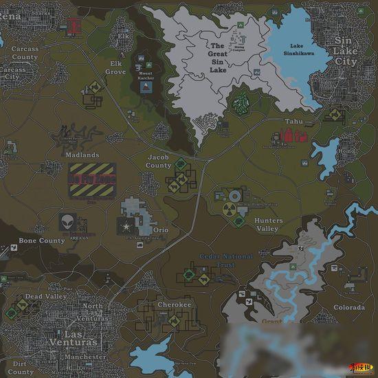 玩家制作GTA真实地图 你是太专业还是太蛋疼图片