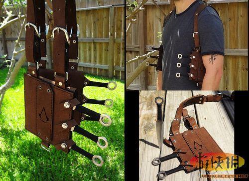 装备飞刀则要使用到皮套,下面是国外手工达人制作的《刺客信条》