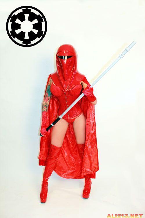 《星球大战》帝国性感Cos丰满大胸卷轴小内性感法袍上古卫兵mod图片
