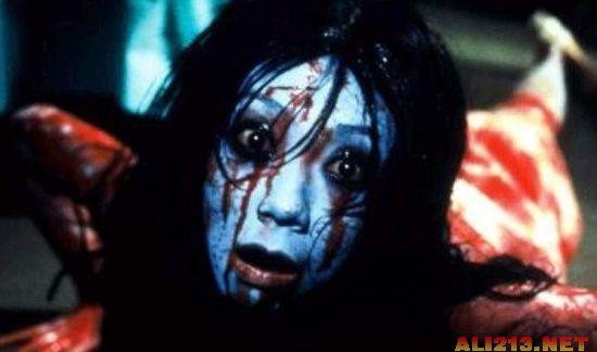 困了么?来看看恐怖片里的十大女鬼排名吧!(9)的搞笑测量表情包图片