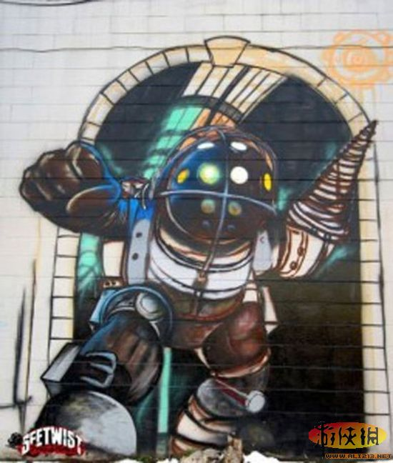25个经典游戏人物的街头涂鸦欣赏