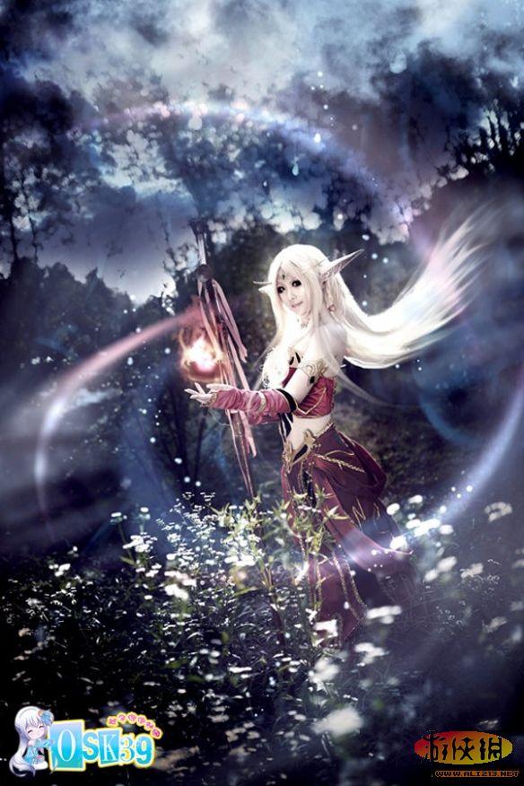 《魔兽世界》血精灵唯美cos欣赏 梦境森林之光