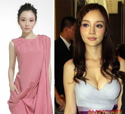 """李小璐,从清纯可爱到身陷整容假脸""""假奶""""的各种传闻."""