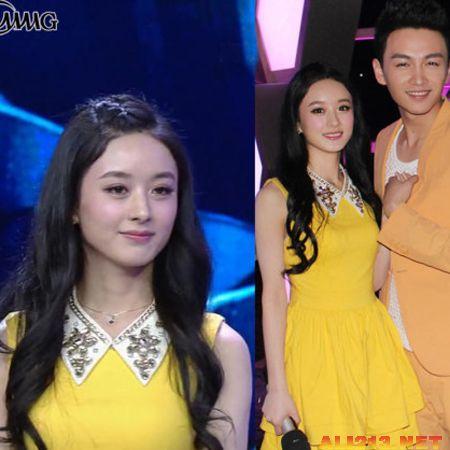 赵丽颖的头发很长,她曾与《陆贞传奇》剧组其他演员