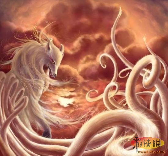 中国 认识/九尾狐传说中的异兽。