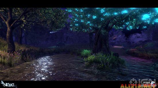 虚拟树木背景图片