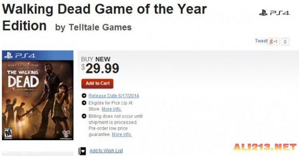 GameStop網站上架PS4版『陰屍路:周年版』