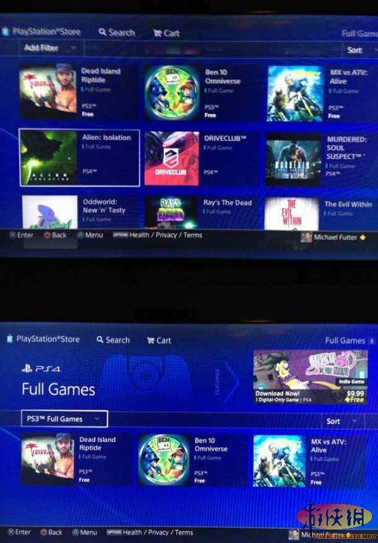 三款PS3游戏现身PS4商店 或为PSNOW服务测试