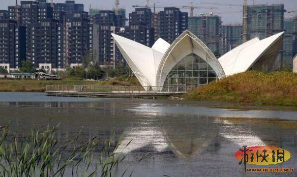 江苏海安县城东七星湖生态园内
