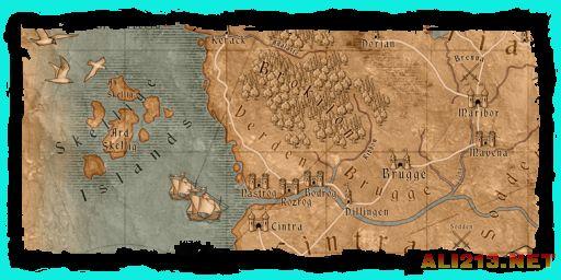 《巫师3:狂猎》完整海岛地图泄露 或包含海战元素!