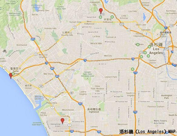 和现实洛杉矶地图比较