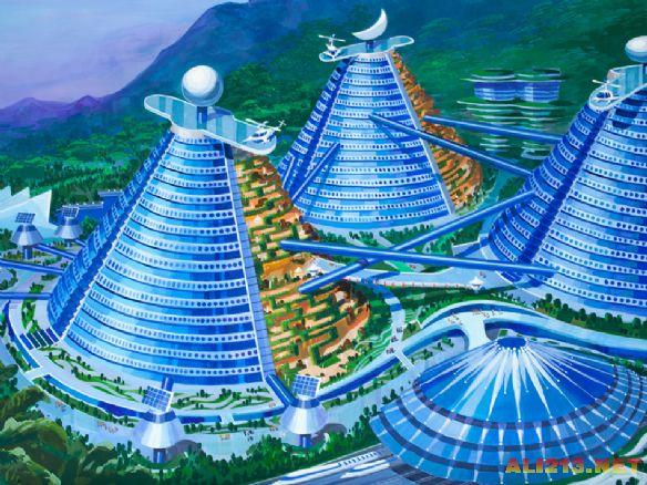 朝鲜展出未来建筑设计图