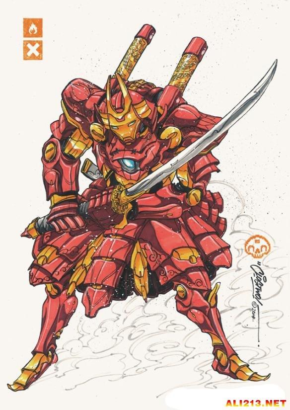 日本画师手绘钢铁侠 画风不一样更似大黄蜂!