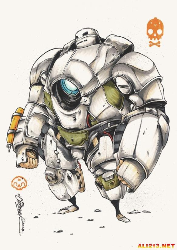 日本画师手绘钢铁侠 画风不一样更似大黄蜂