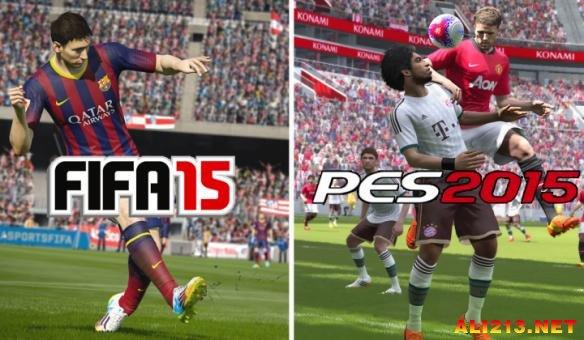 刀真枪来一场 FIFA 15 vs 实况足球2015 PES2015 终极对抗