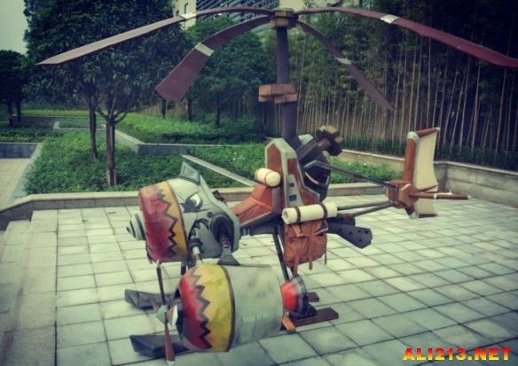 《魔兽世界》玩家打造逼真工程学飞机