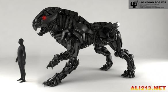 动物变形机器画