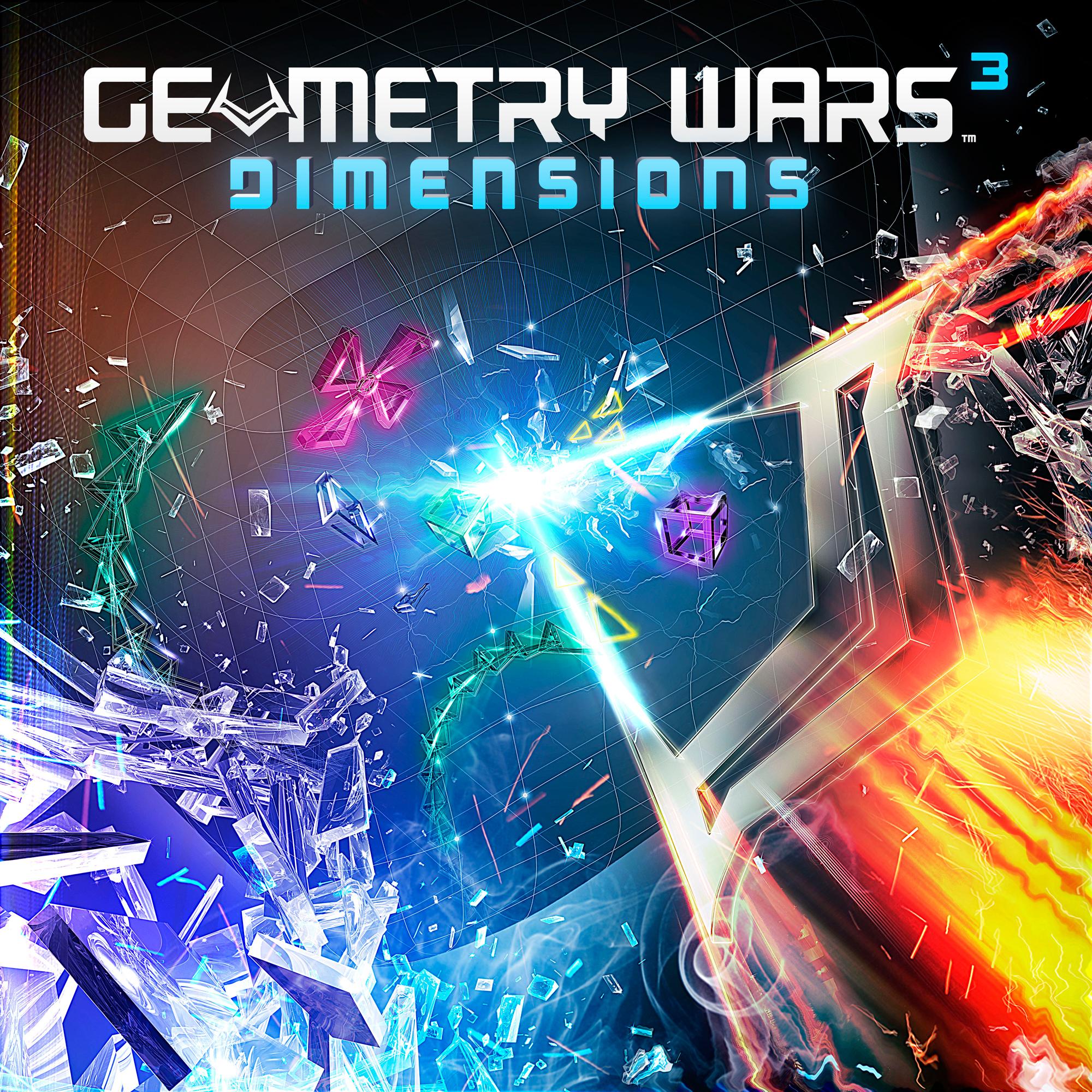 新作还加入了动态3d背景,简直酷炫   《几何 战 争3:维度》拥有全3d