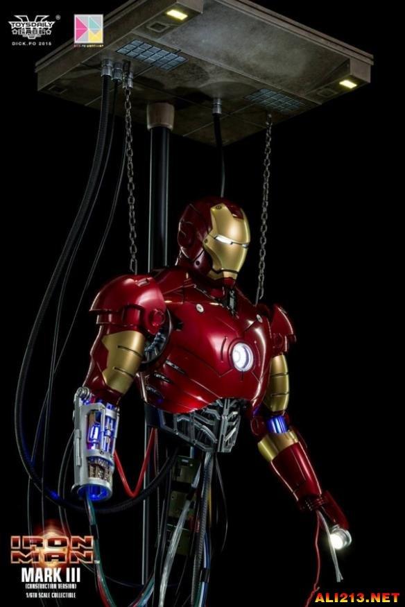iron man 3游戏_高度还原!HotToys推出《钢铁侠(Iron Man)》Mark 3调试情景地台(3 ...