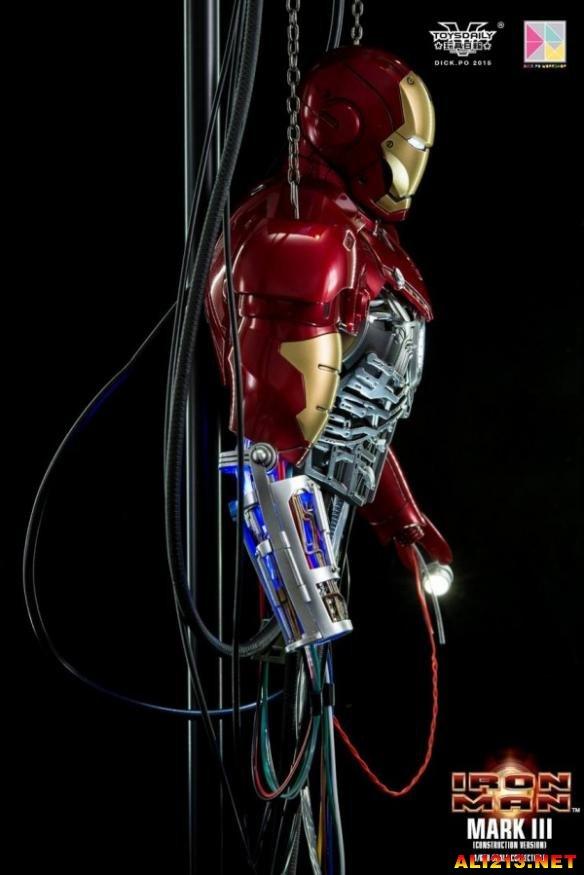 iron man 3游戏_高度还原!HotToys推出《钢铁侠(Iron Man)》Mark 3调试情景地台(4 ...