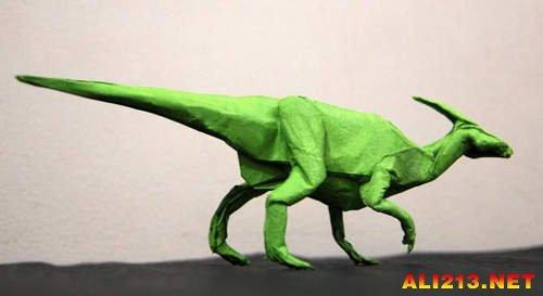 国外折纸达人作品 折出来的恐龙天使不要太逼真!
