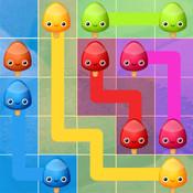 冰冻流动 Frozen Lollipops Flow Connect Sweet Popsicles in this Cute Free Line Drawing Board Game
