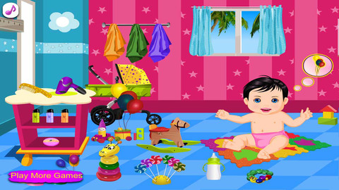 可爱宝贝洗澡2游戏截图
