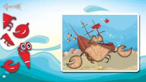 海生动物拼图
