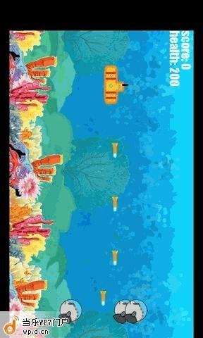 海底游戏场景扁平风