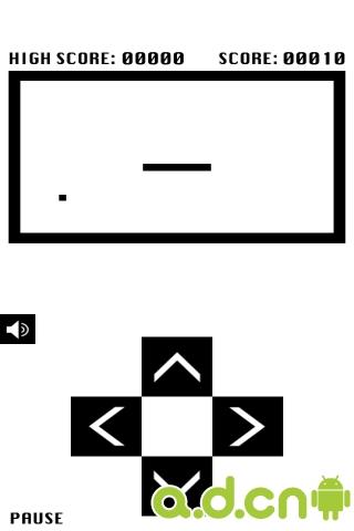 黑白贪吃蛇游戏截图