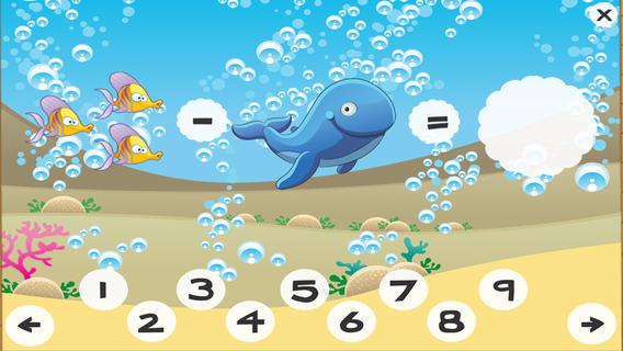 儿童海洋动物数学游戏截图